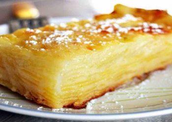 Gâteau invisible aux pommes fondant