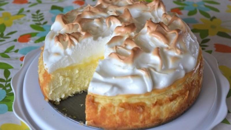 Cheesecake au citron et à la meringue