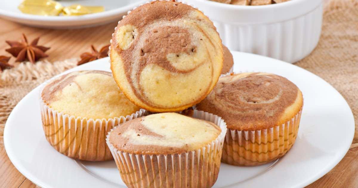 Délicieux muffins marbrés