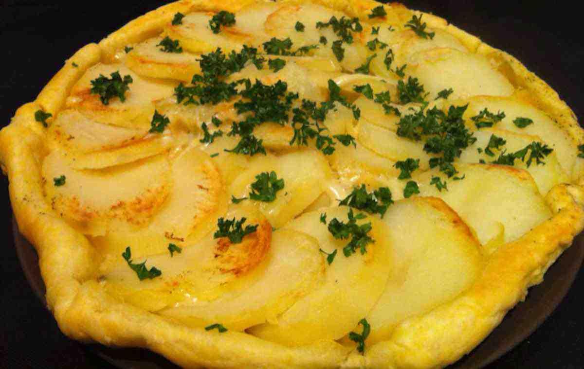 tarte tatin de pomme de terre au cantal