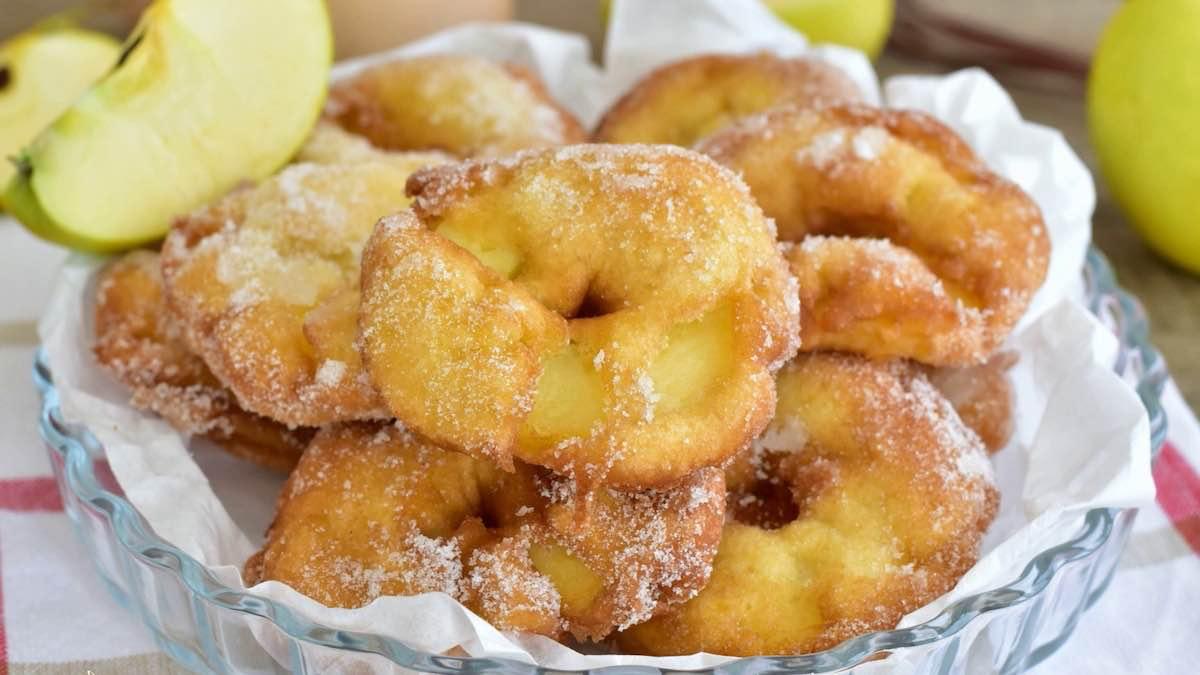 Beignets aux pommes au four croustillants
