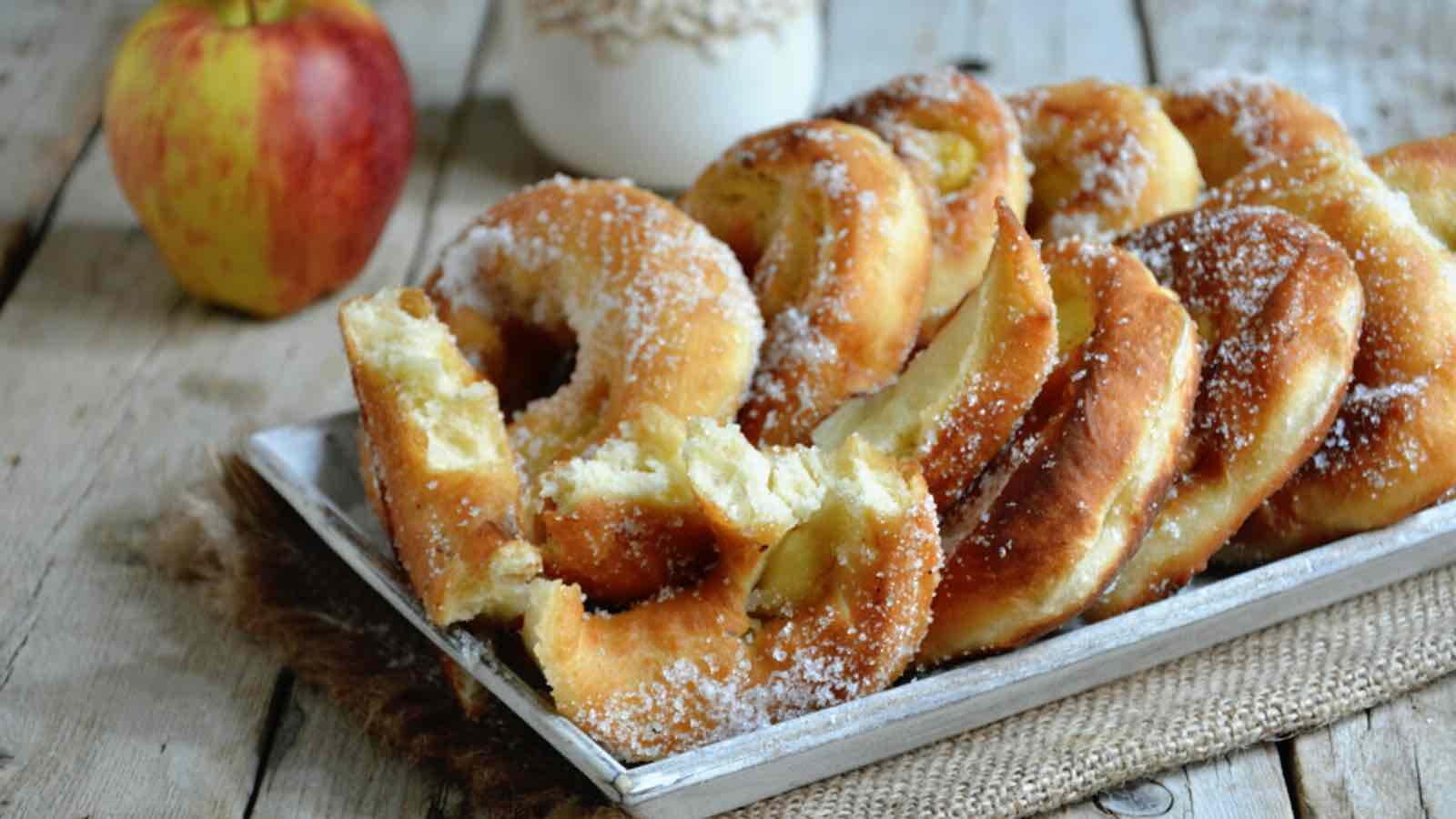 Beignets aux pommes sans oeufs
