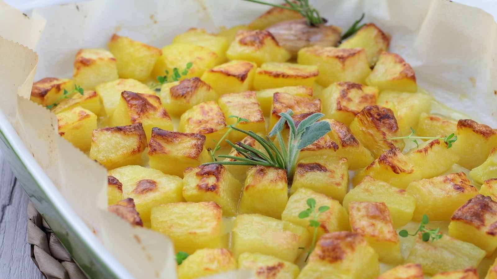 Recette Pommes de terre au four croustillantes