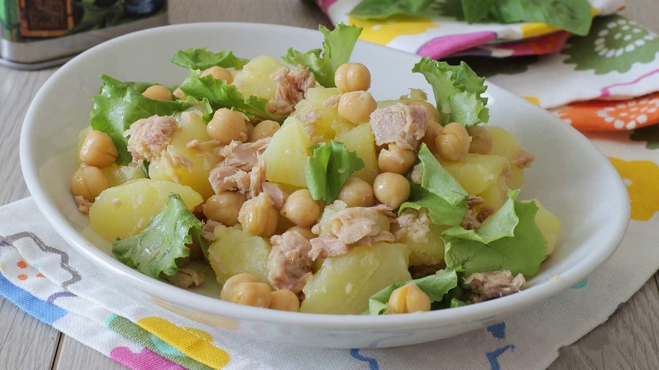 Salade de pommes de terre et de thon