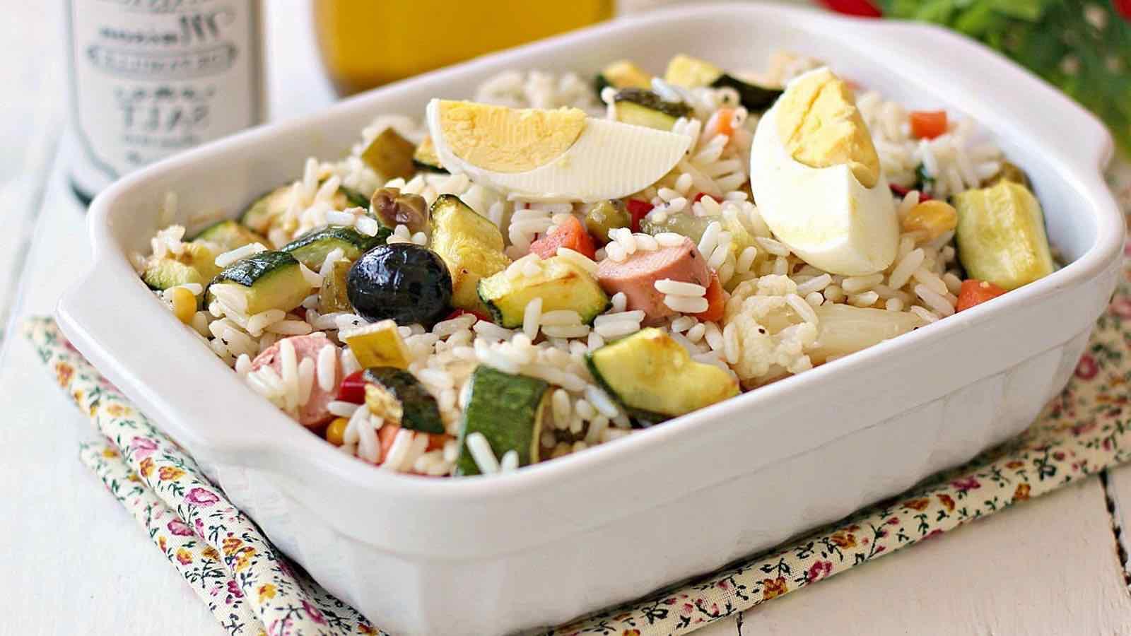 Salade de riz aux courgettes
