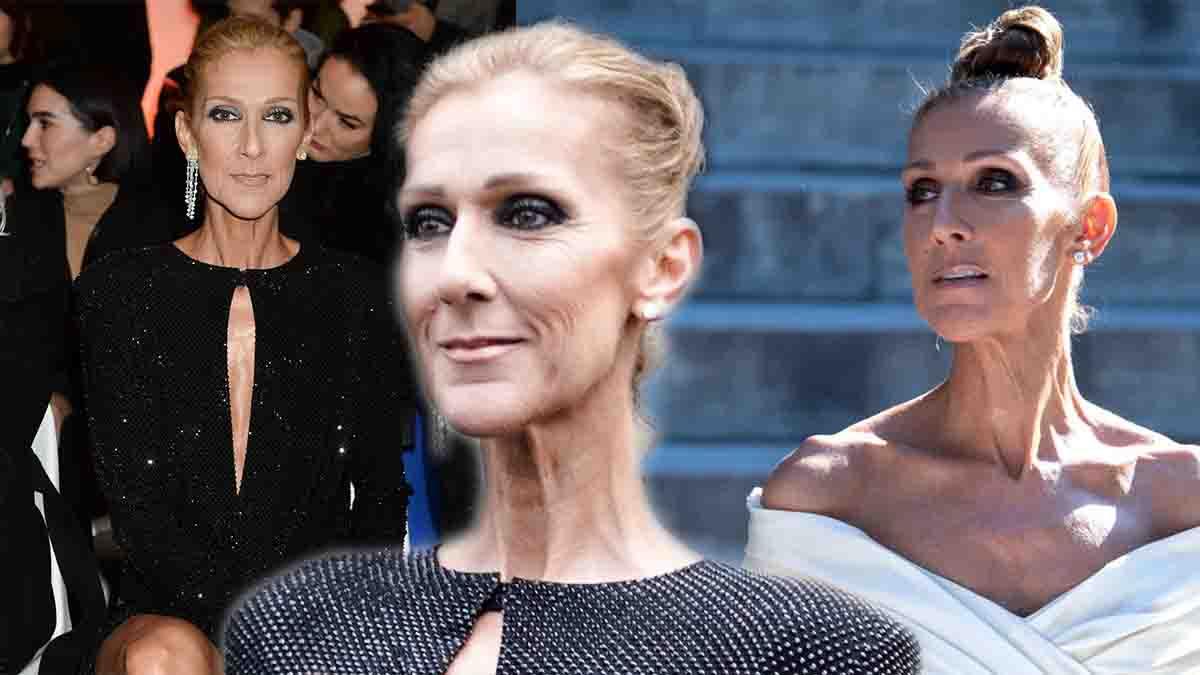 Céline Dion mise encore sur un look déjanté en top transparent pantalon métallisé et chapeau invraisemblable