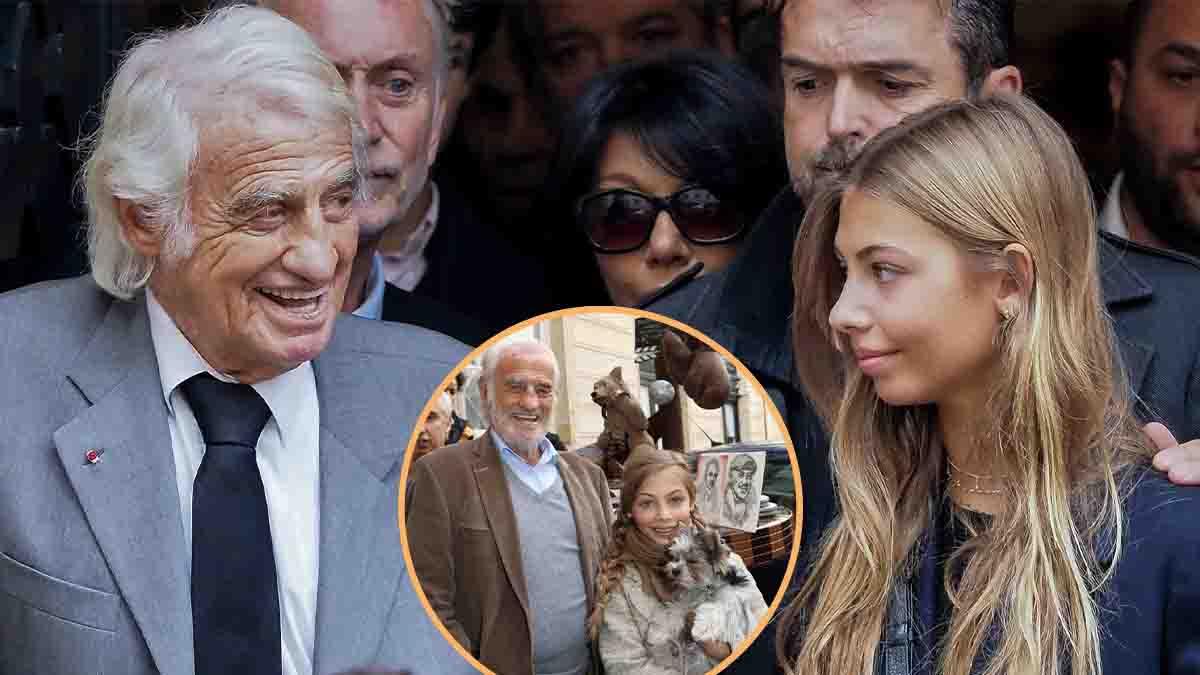 Jean-Paul Belmondo et Stella en vacance ! Découvrez ce remarquable cliché portrait père-fille