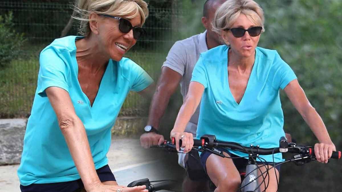 Brigitte Macron en micro-short ! Elle enflamme les internautes !