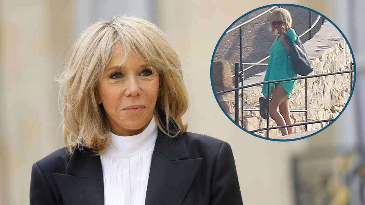 Brigitte Macron en petite tenue ? Elle profite de ses vacances !