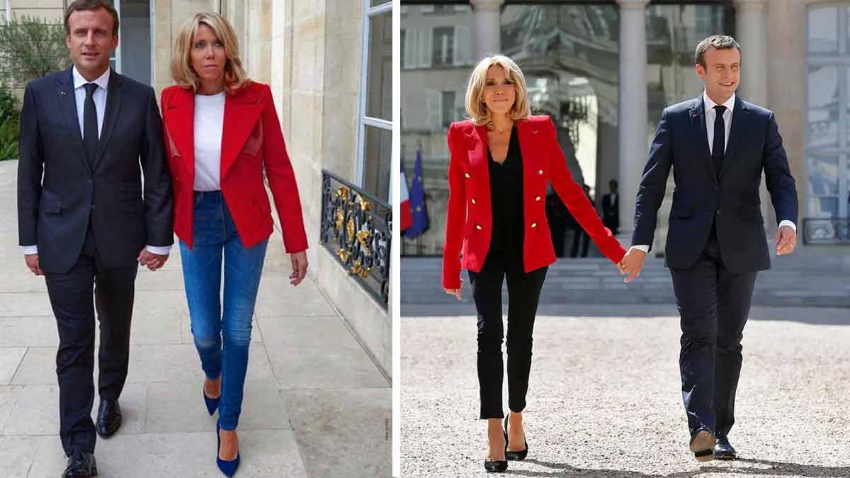 Brigitte Macron hyper sexy ! Elle porte un pantalon moulant !
