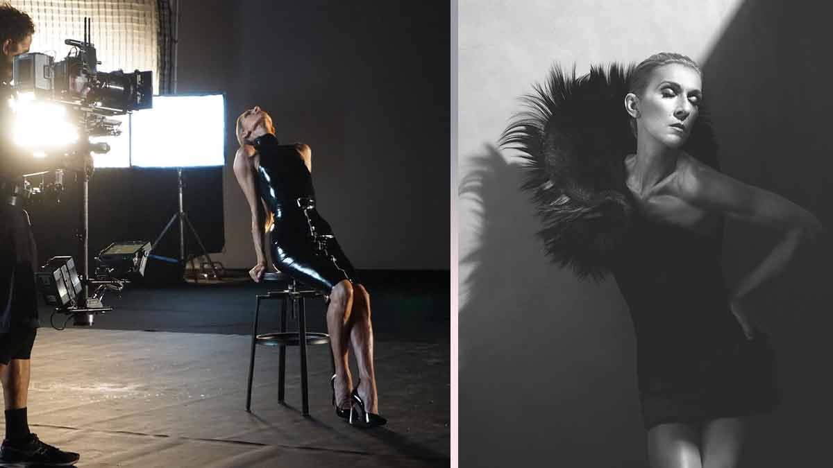Céline Dion sublime et extravagante ! Elle porte une robe en latex