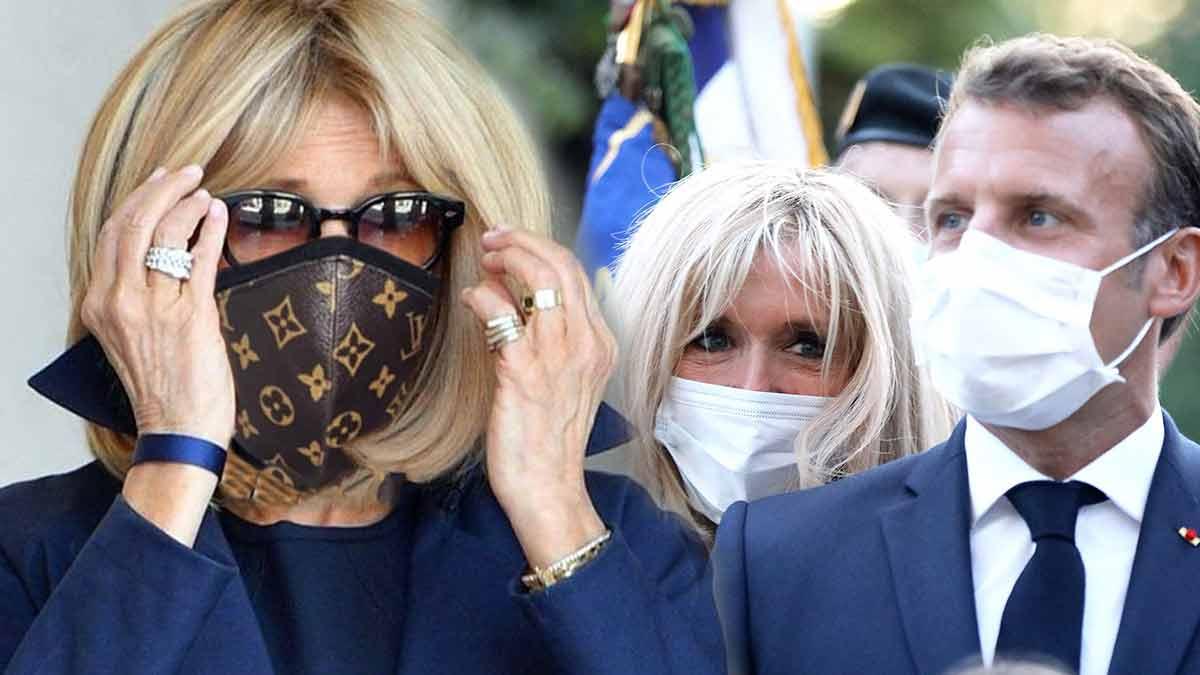 Alerte scandale à l'Elysée ! Brigitte Macron achète des masques Louis Vuitton à prix exorbitant !
