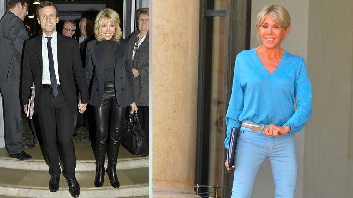 """Brigitte Macron fait tourner les têtes ! """"Talons et Slim trop sexy"""" !"""