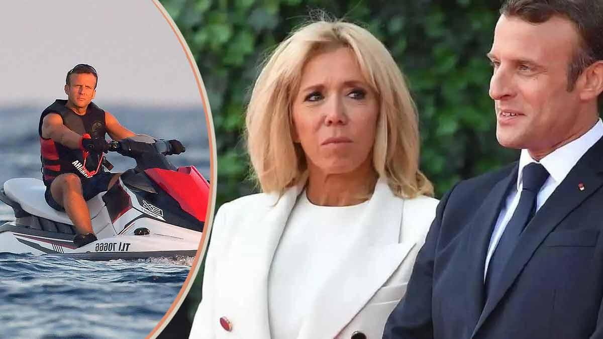 Emmanuel Macron torse nu ? Il profite de sa balade en Jet Ski avec Brigitte Macron !