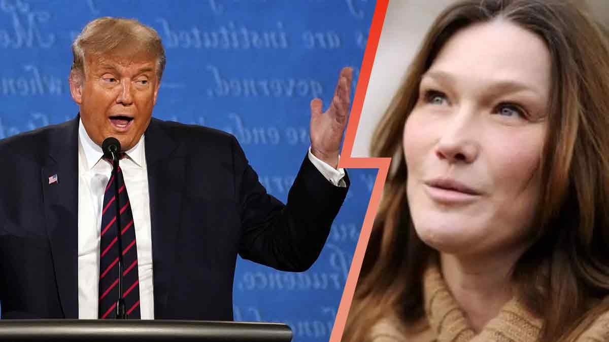 """Carla Bruni énervée, elle appelle Trump ! """"Il est fou """" !"""