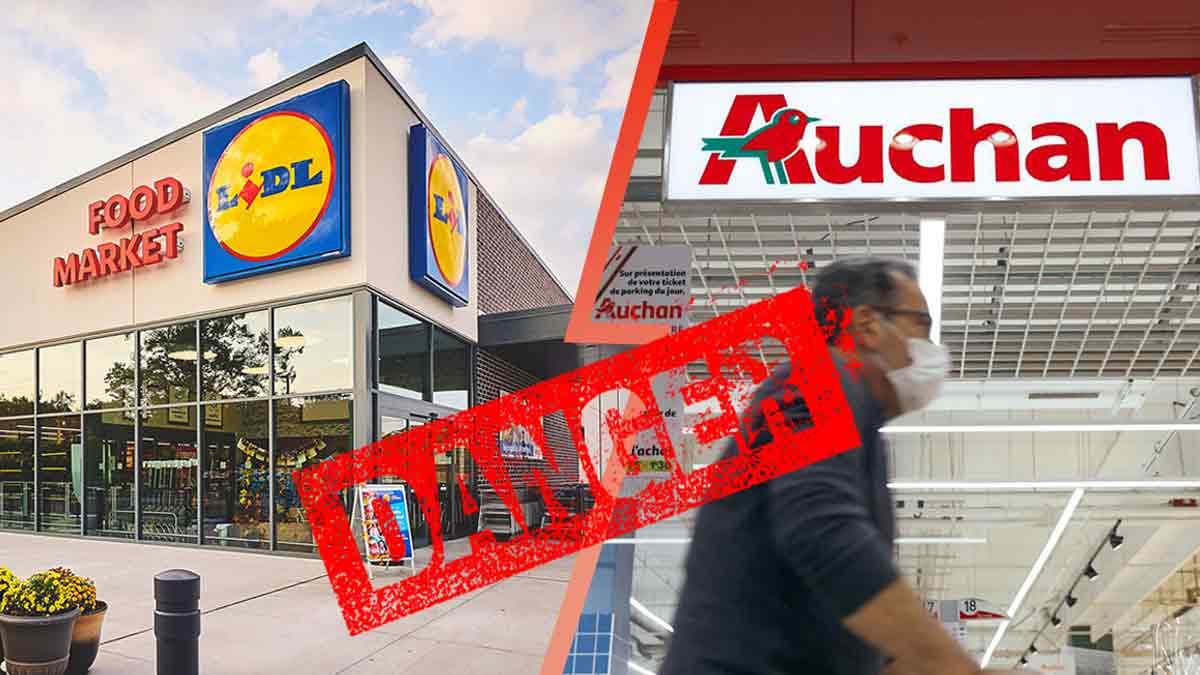 Lidl et Auchan : Ces produits sont DANGEREUX ! A ramener immédiatement !