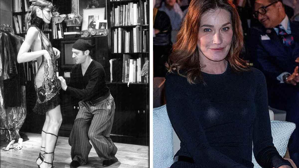 Carla Bruni : pose en robe transparente ! Gros SCANDALE !