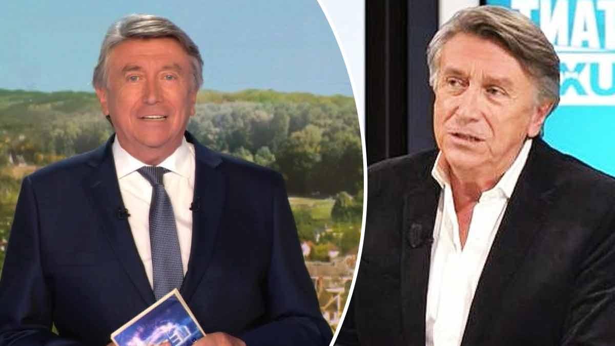 Jacques Legros ému et fond en larmes à la fin du journal de 13 heures de TF1